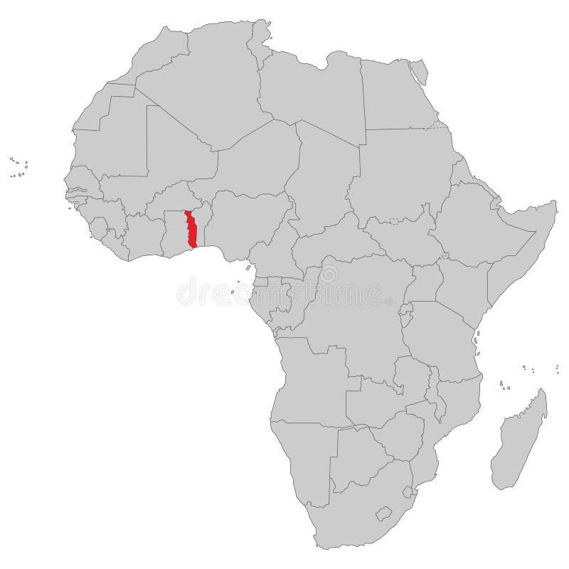 Afrika - politische Karte von Afrika vektor abbildung