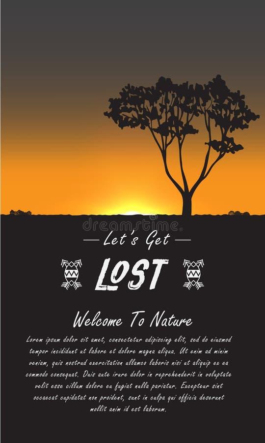 Afrika reklambladlopp vektor illustrationer