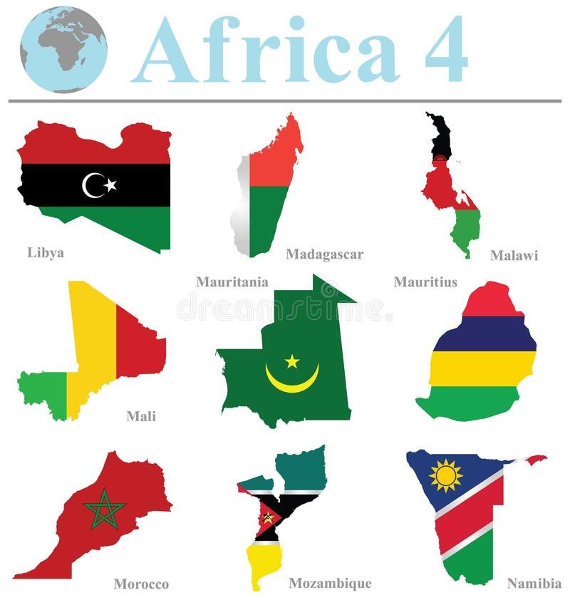 Afrika samling 4 vektor illustrationer