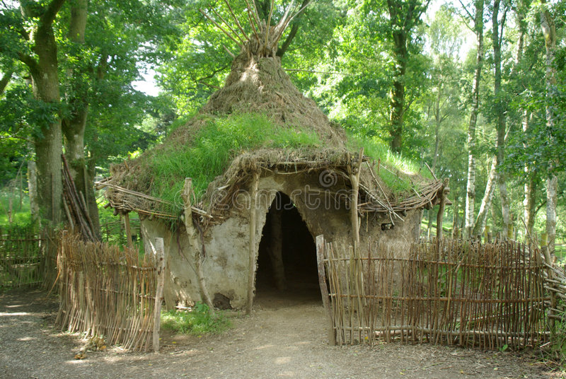 Afrika-Schlamm-Hütte. stockfotografie