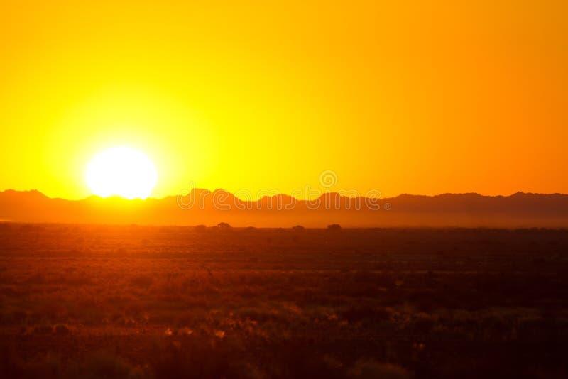 Afrika-Sonnenuntergang stockfotografie