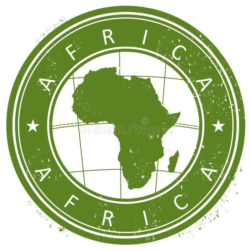 Afrika-Stempel lizenzfreie abbildung