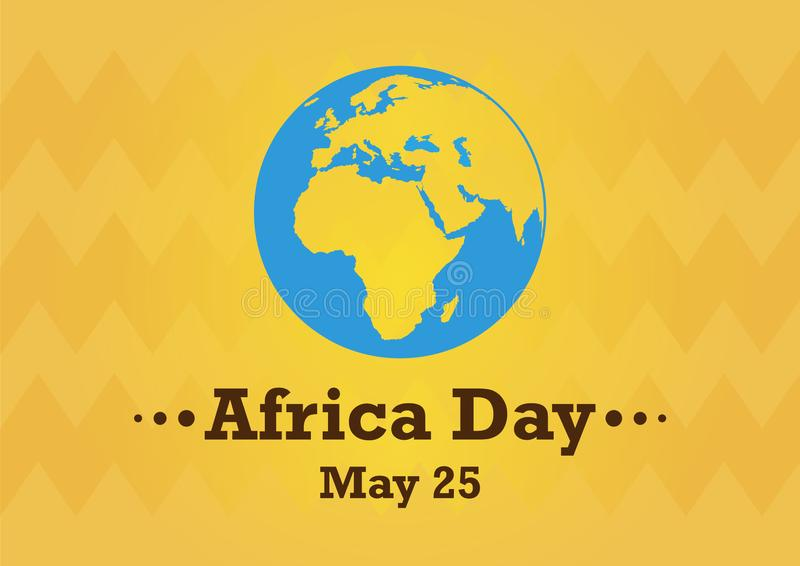 Afrika-Tagesvektor lizenzfreie abbildung