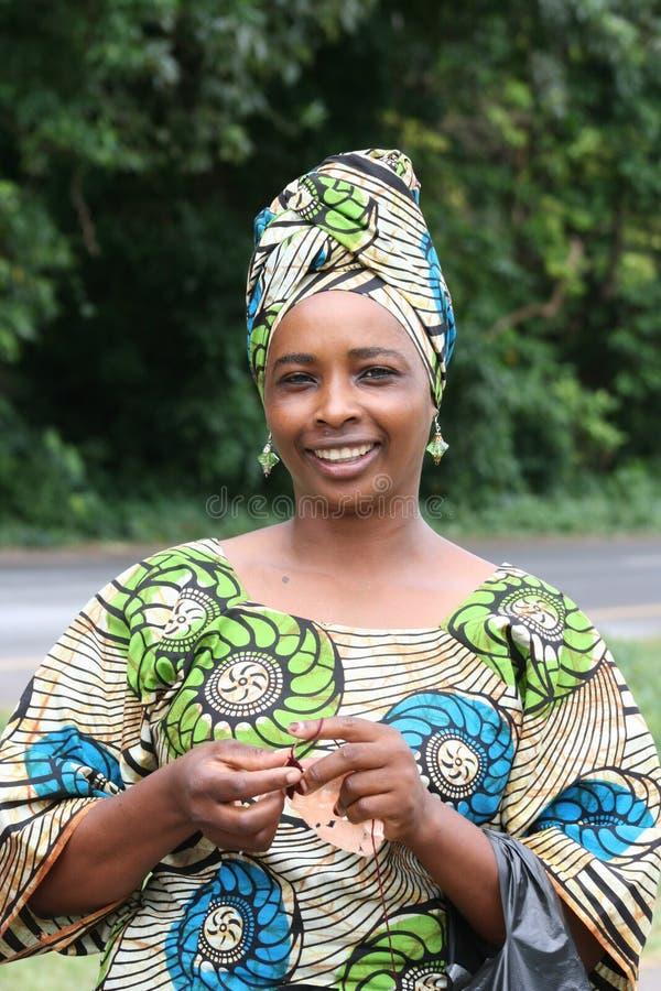 Afrika, Tanzania, portretvrouw van Manyara stock foto's