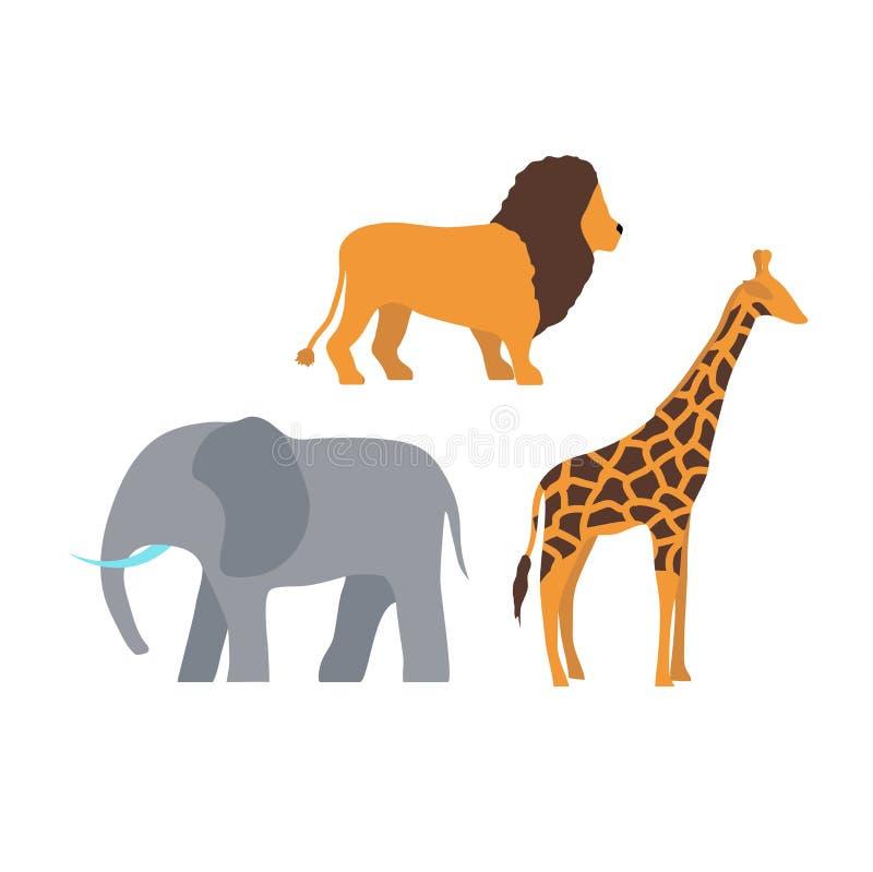 Afrika-Tiervektorillustration vektor abbildung