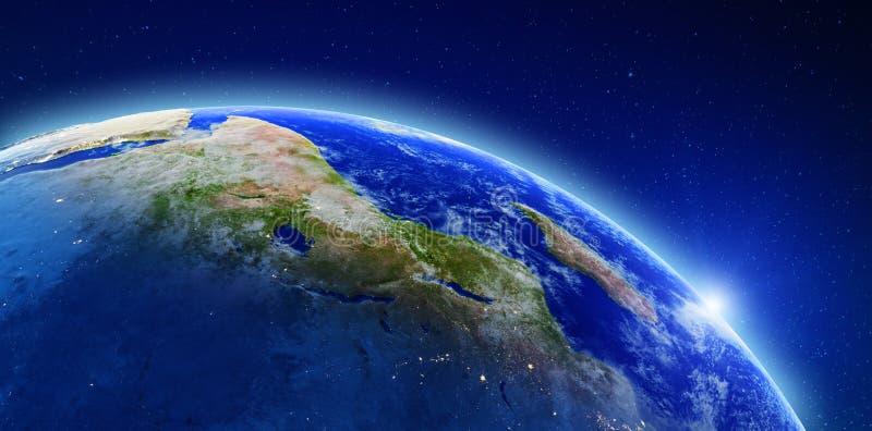 Afrika und Madagaskar lizenzfreie abbildung