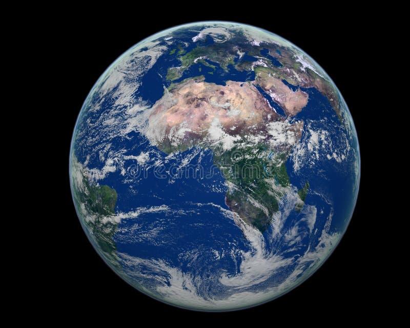 Afrika van de aarde kant royalty-vrije illustratie