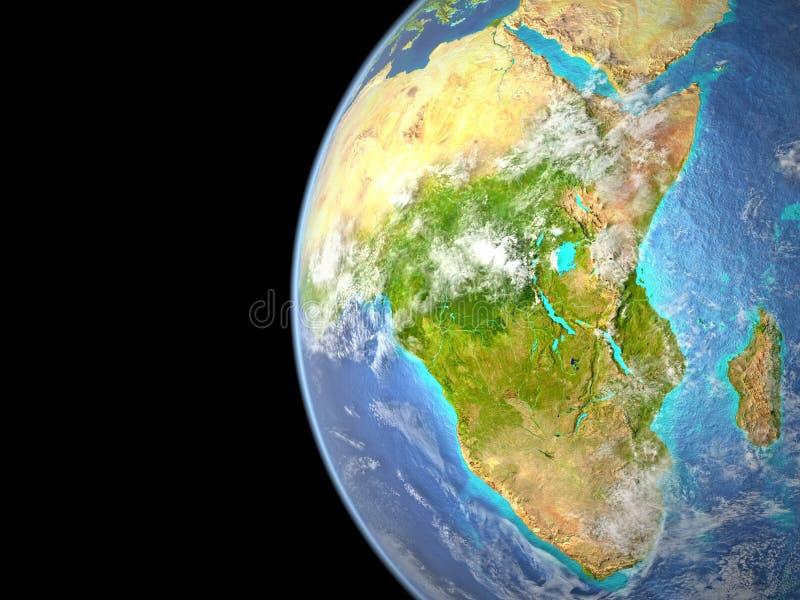 Afrika van Ruimte royalty-vrije stock foto