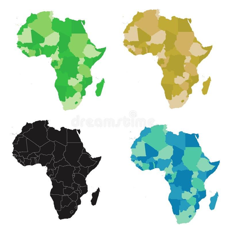 Afrika - Vektor lizenzfreie abbildung