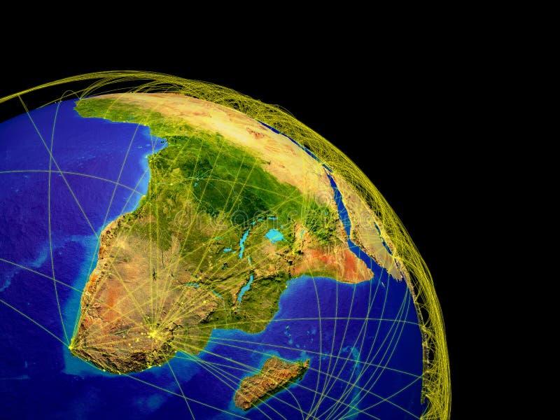 Afrika vom Platz lizenzfreie abbildung