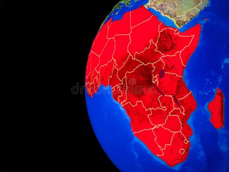 Afrika vom Platz vektor abbildung