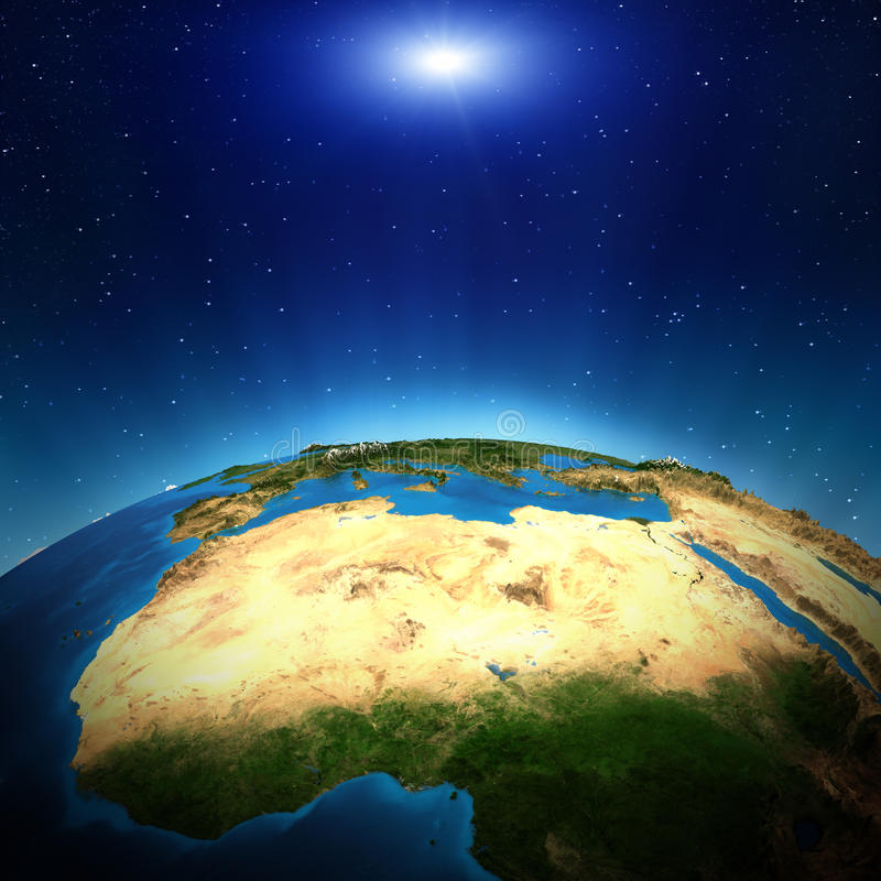 Afrika vom Raum stock abbildung