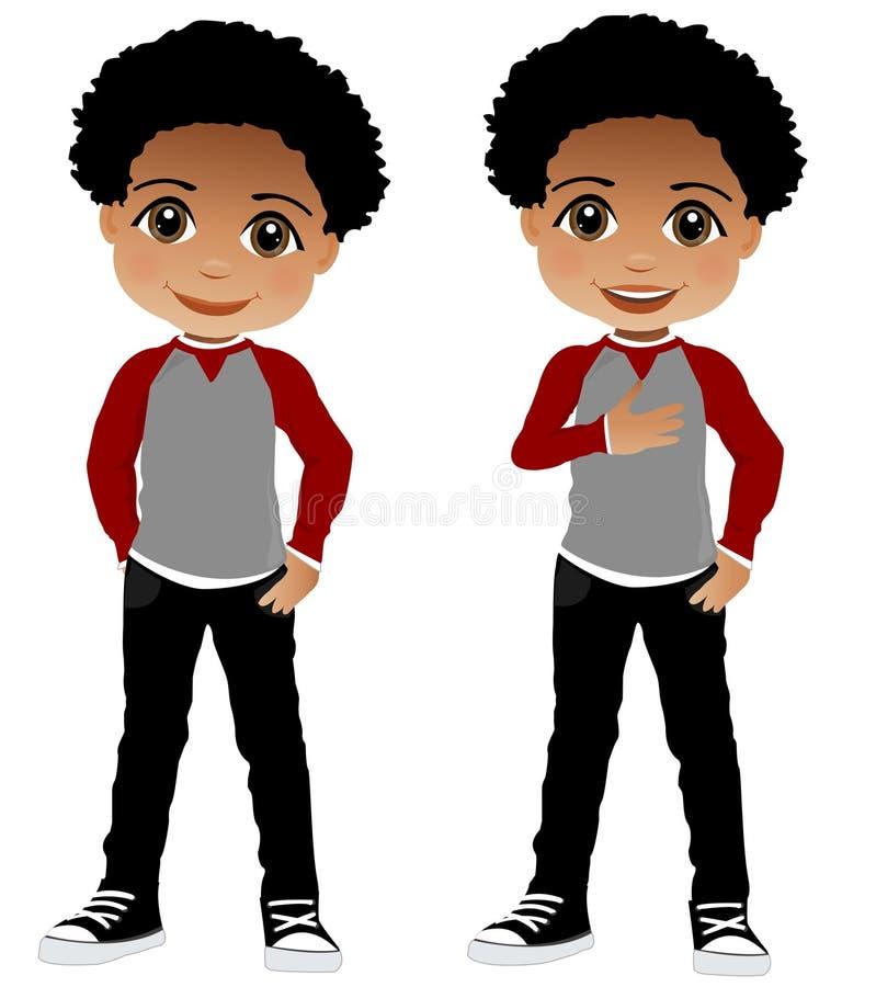 Afrikaans Amerikaans Kind vector illustratie