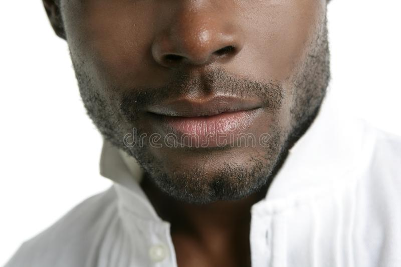 Afrikaans Amerikaans leuk zwart jonge mensenportret royalty-vrije stock foto