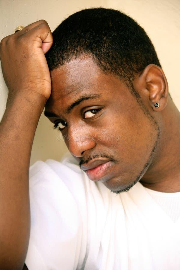 Afrikaans Amerikaans Mannelijk GezichtsPortret stock afbeelding