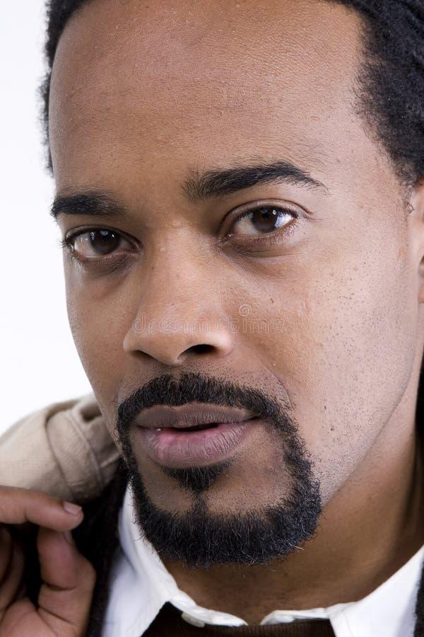 Afrikaans Amerikaans Mannelijk Model stock foto