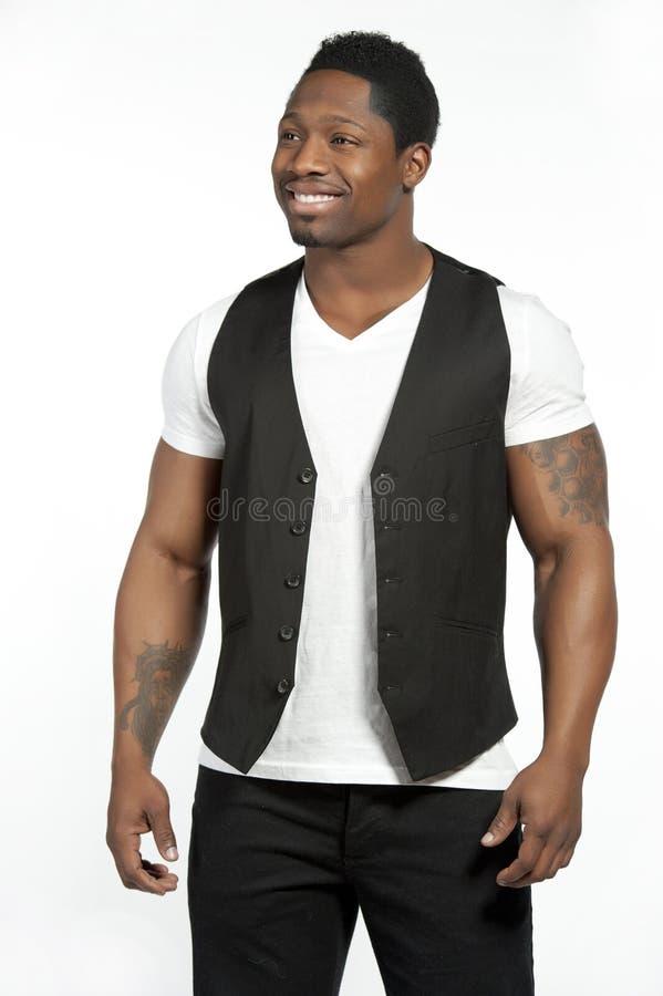 Afrikaans Amerikaans Mannelijk Model in Levensstijl stock afbeelding