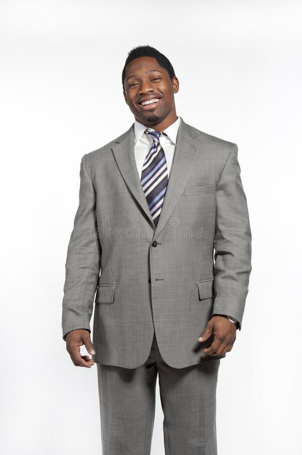 Afrikaans Amerikaans Mannetje in Kostuum stock foto's