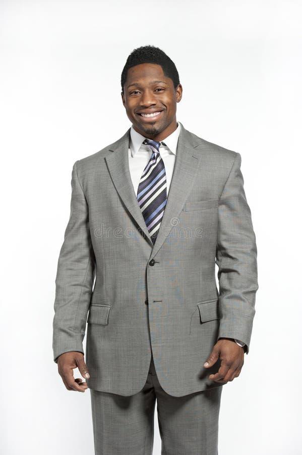 Afrikaans Amerikaans Mannetje in Kostuum stock foto