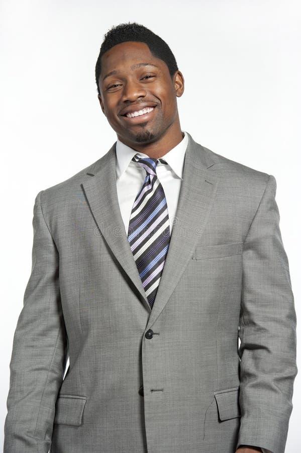 Afrikaans Amerikaans Mannetje in Kostuum royalty-vrije stock foto's