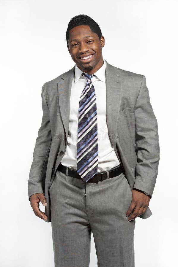 Afrikaans Amerikaans Mannetje in Kostuum stock afbeelding