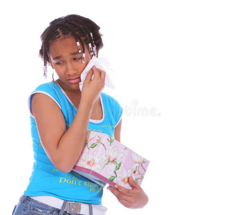 Afrikaans Amerikaans Meisje dat C schreeuwt stock afbeeldingen