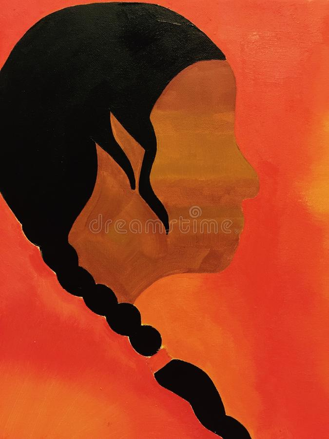 Afrikaans Amerikaans Olieverfschilderij royalty-vrije stock foto's