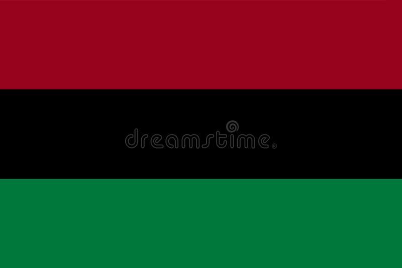 Afrikaans Amerikaans Vlag achtergrondillustratie groot dossier vector illustratie