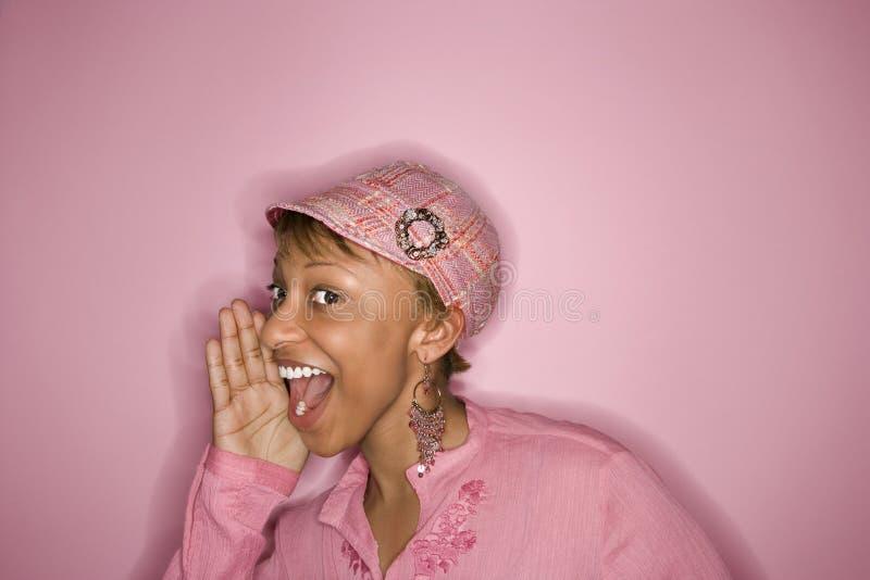 Afrikaans-Amerikaans vrouwenportret. royalty-vrije stock afbeelding