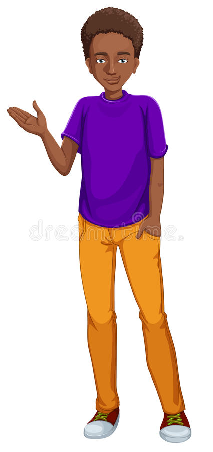 Afrikaans-Amerikaanse Kerel royalty-vrije illustratie