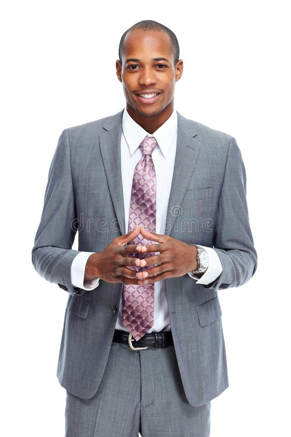 Afrikaans-Amerikaanse zakenman royalty-vrije stock afbeeldingen