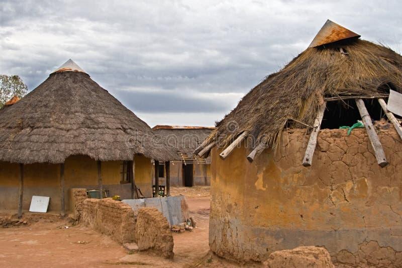 Afrikaans dorp royalty-vrije stock afbeelding