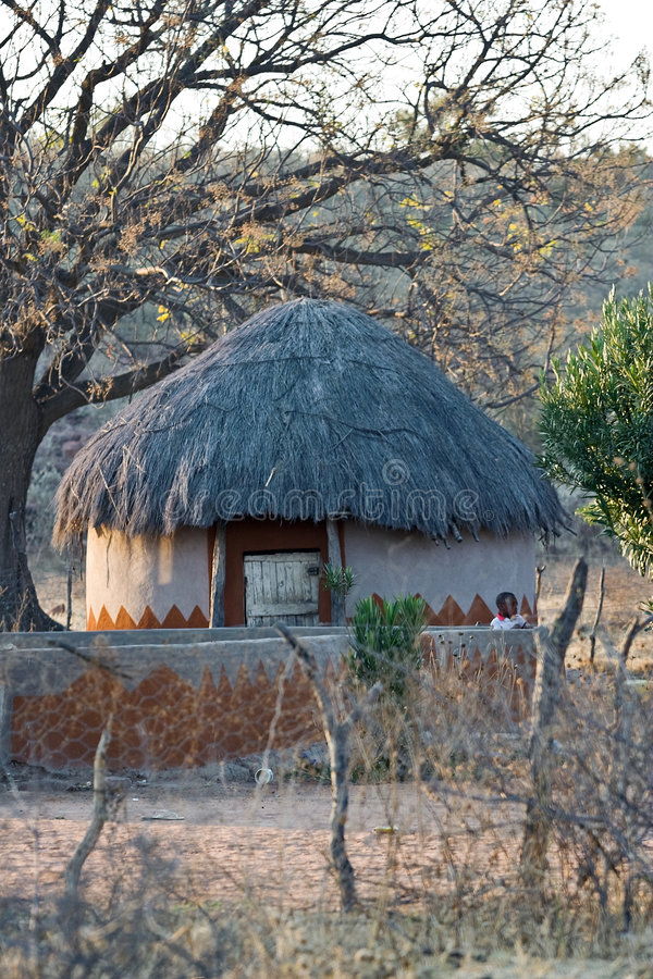 Afrikaans dorpshuis royalty-vrije stock foto