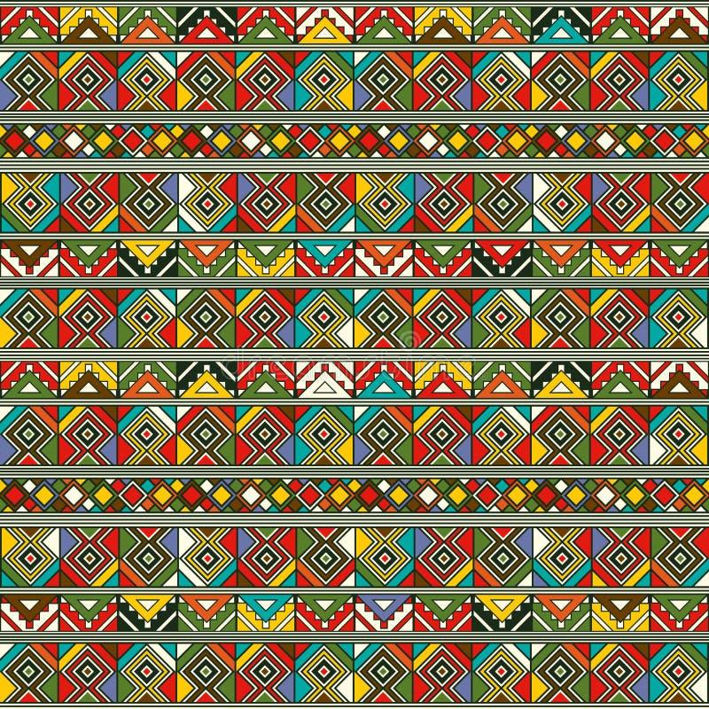Afrikaans ethnopatroon stock illustratie
