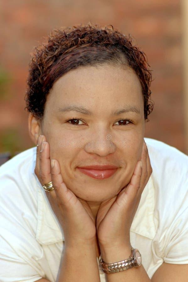 Afrikaans gezicht stock afbeeldingen
