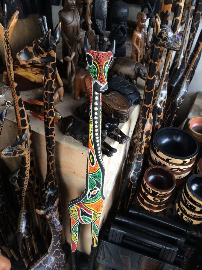 Afrikaans Girafkunstwerk stock foto's