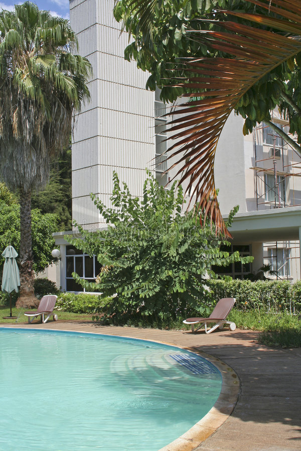 Afrikaans hotel royalty-vrije stock afbeeldingen
