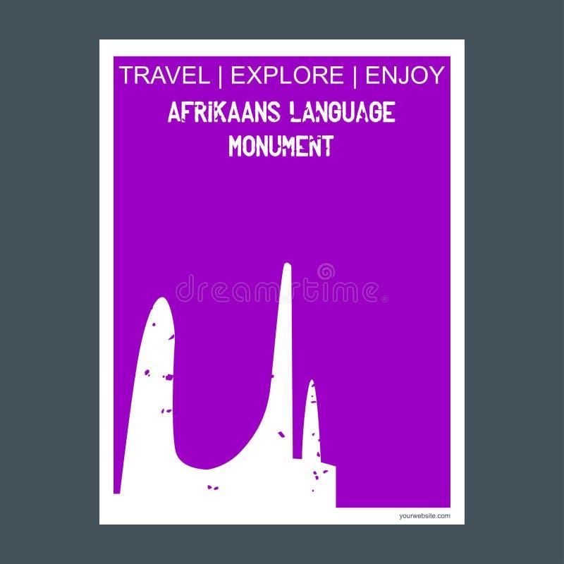 Afrikaans Językowy Pomnikowy Paarl, Południowa Afryka zabytek landmar royalty ilustracja