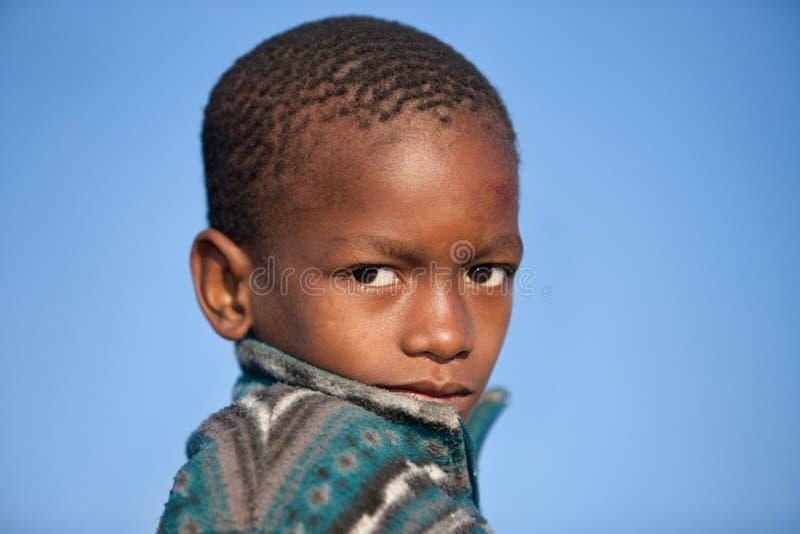 Afrikaans kindportret royalty-vrije stock afbeeldingen