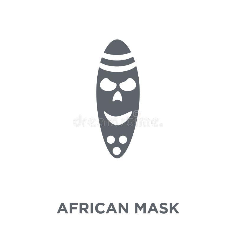 Afrikaans maskerpictogram van Museuminzameling royalty-vrije illustratie