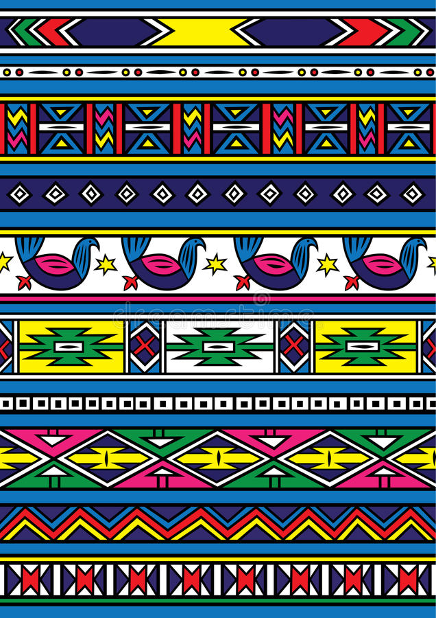 Afrikaans patroon stock illustratie