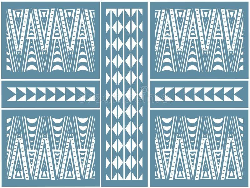 Afrikaans patroon van driehoeken stock foto