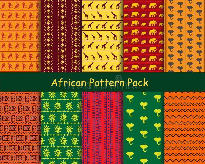 Afrikaans patroonpak vector illustratie