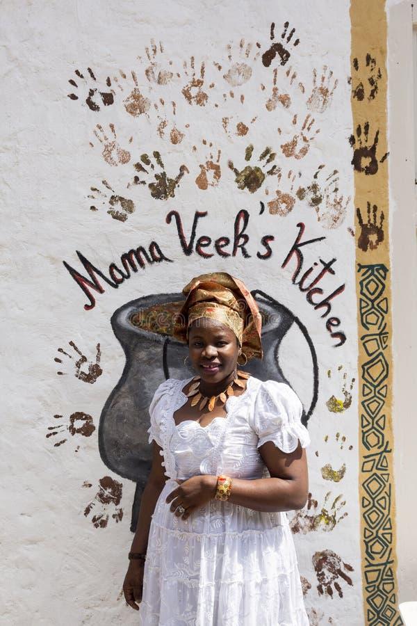 Afrikaans restaurant in Zagreb, Kroatië stock foto