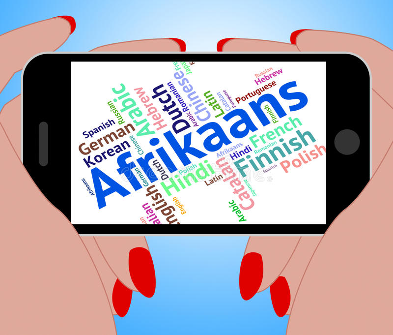 Afrikaans słowo Reprezentuje języka obcego I komunikację royalty ilustracja