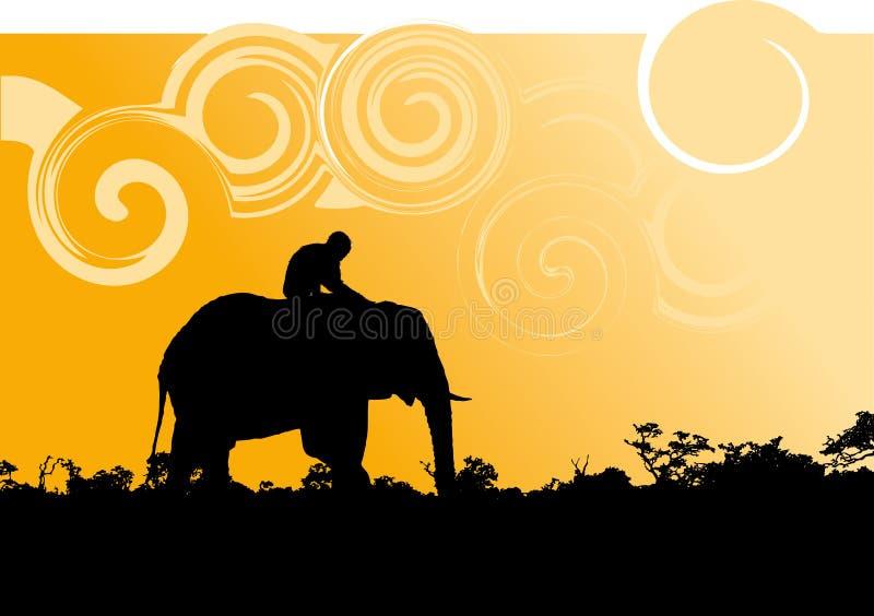 Afrikaans silhouet stock illustratie