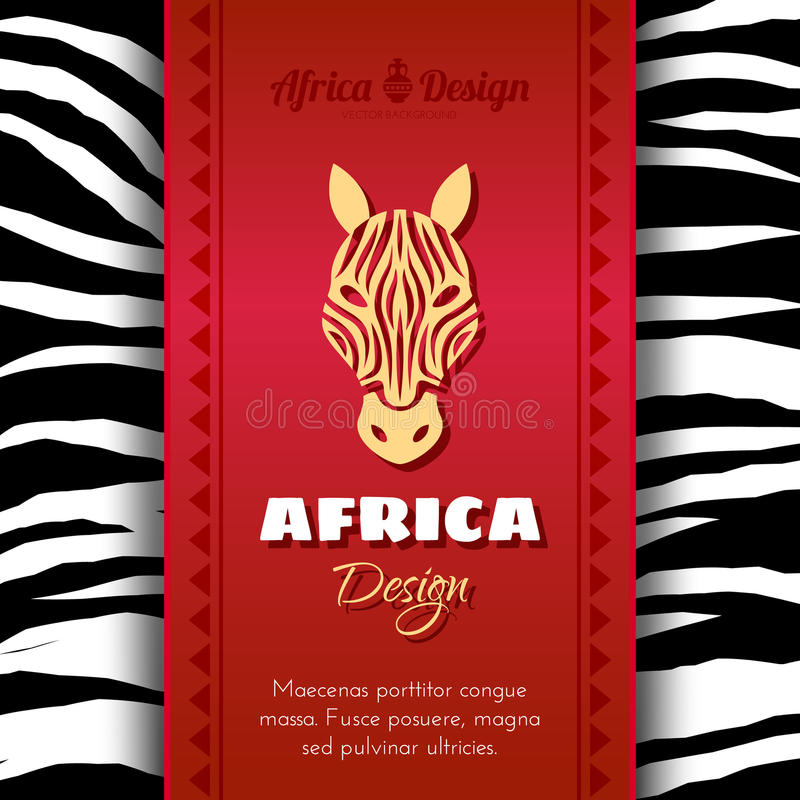 Afrikaans Stammen Etnisch Art Background stock illustratie
