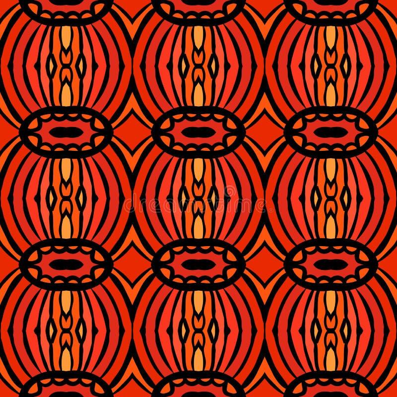 Afrikaans stammenpatroon stock illustratie