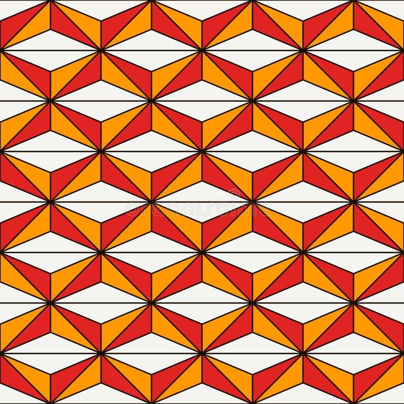 Afrikaans stijl naadloos patroon met abstracte cijfers Etnische en stammendruk Geometrische sierachtergrond vector illustratie