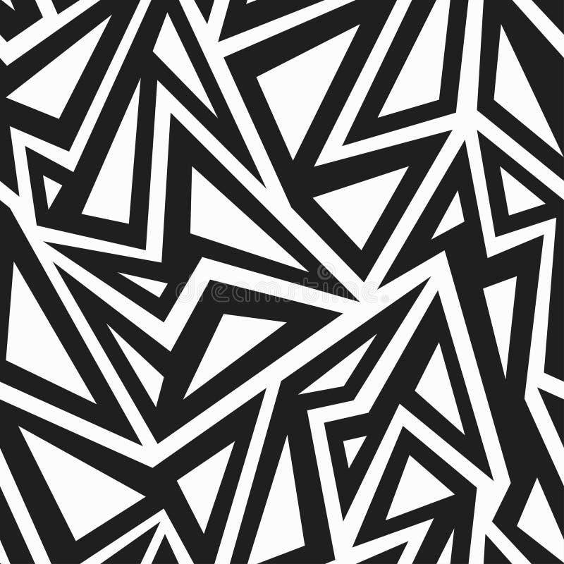 Afrikaans zwart-wit naadloos patroon royalty-vrije illustratie
